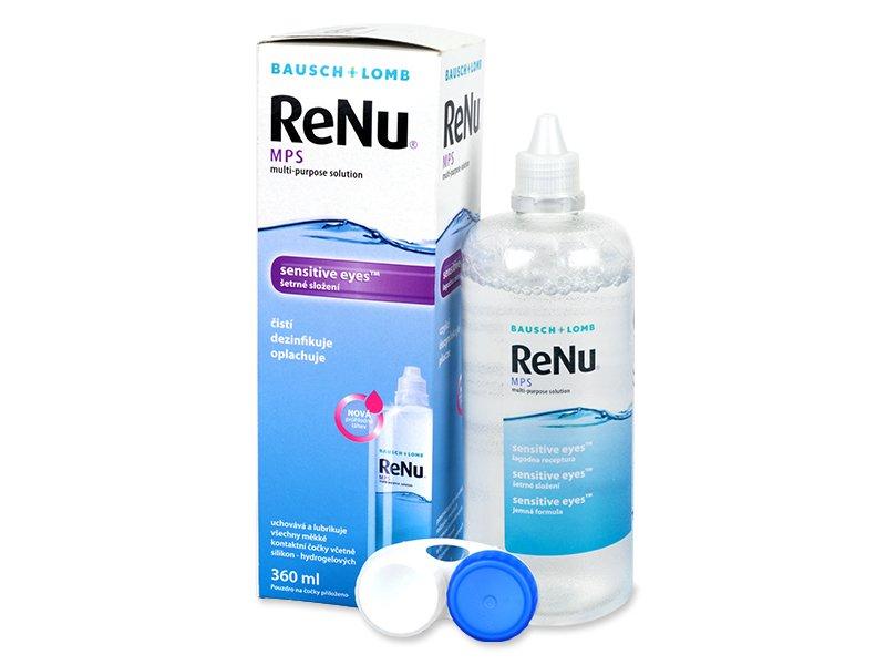Tekočina za čiščenje - Tekočina ReNu MPS Sensitive Eyes 360 ml