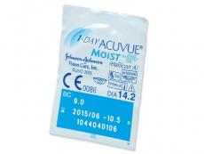 1 Day Acuvue Moist (180leč) - Predogled blister embalaže