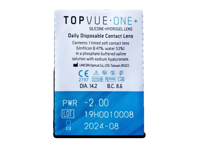 TopVue One+ (30 leč) - Predogled blister embalaže