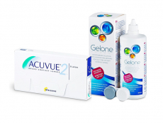 Acuvue 2 (6 leč) + tekočina Gelone 360 ml