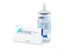 Acuvue 2 (6 leč) + tekočina Laim-Care 400 ml