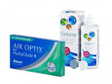 Air Optix plus HydraGlyde for Astigmatism (6 leč) + tekočina Gelone 360 ml