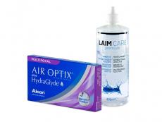 Air Optix plus HydraGlyde Multifocal (3 leče) + tekočina Laim-Care 400 ml