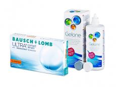 Bausch + Lomb ULTRA for Astigmatism (6 leč) + tekočina Gelone 360 ml