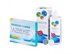 Bausch + Lomb ULTRA for Presbyopia (3 leče) + tekočina Gelone 360 ml