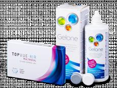 TopVue Air Multifocal (3 leče) + tekočina Gelone 360 ml