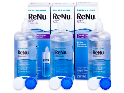 Tekočina ReNu MPS Sensitive Eyes 3 x 360 ml
