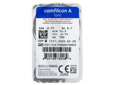 Biofinity Toric (3 leče) - Predogled blister embalaže