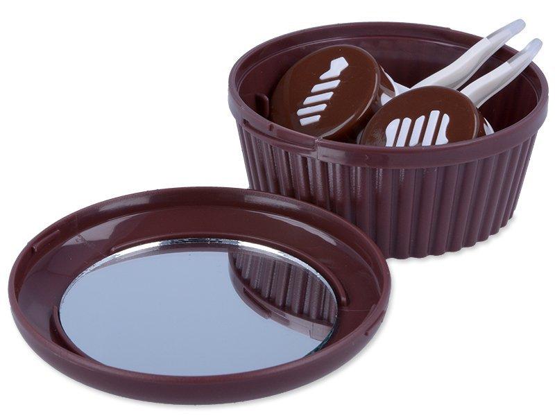 Škatlica z ogledalom Muffin - rjava