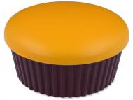 Škatlice za leče z ogledalom - Škatlica z ogledalom Muffin - oranžna