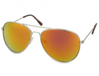 Pilot sončna očala - Sončna očala Silver Pilot - Pink/Orange