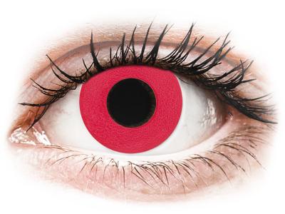 CRAZY LENS - Solid Red - dnevne leče z dioptrijo (2 leči)