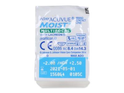 Blister pack preview  - 1 Day Acuvue Moist Multifocal (30 leč)