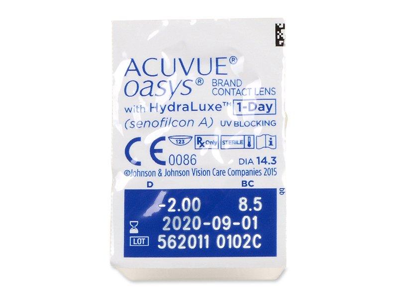 Predogled blister embalaže - Acuvue Oasys 1-Day (30 leč)