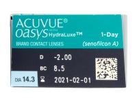 Acuvue Oasys 1-Day (30 leč) - Predogled lastnosti