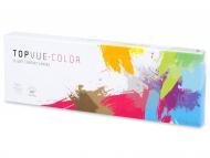 Barvne kontaktne leče - TopVue Daily Color - brez dioptrije (10 leč)