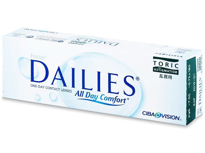 Torične kontaktne leče - Focus Dailies Toric (30leč)