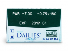 Focus Dailies Toric (30leč) - Predogled lastnosti