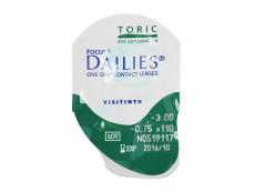 Focus Dailies Toric (30leč) - Predogled blister embalaže