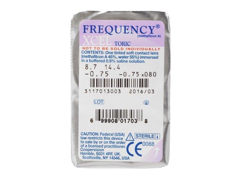 Predogled blister embalaže - FREQUENCY XCEL TORIC (3leče)