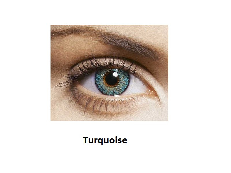 FreshLook ColorBlends - z dioptrijo (2 leči) - Turquoise