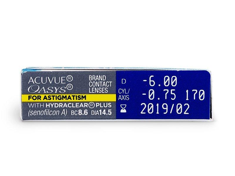 Acuvue Oasys for Astigmatism (6leč) - Predogled lastnosti