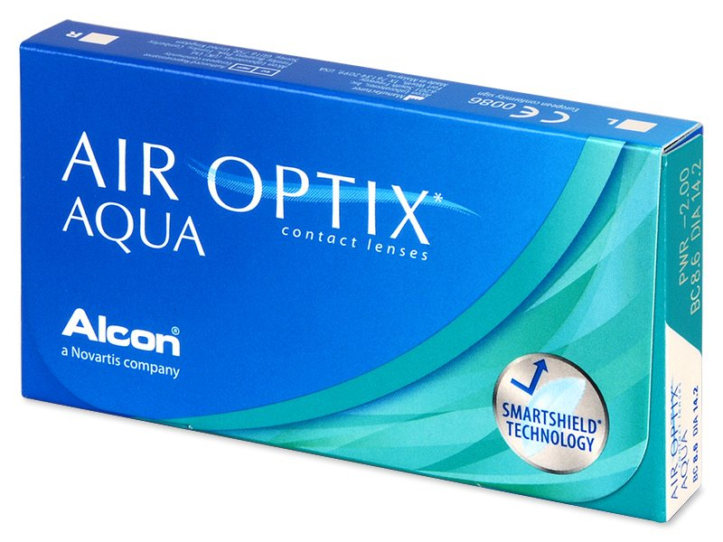 Air Optix Aqua (6leč) - Mesečne kontaktne leče