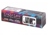 Barvne kontaktne leče - Crazy GLOW - Brez dioptrije (2leči)