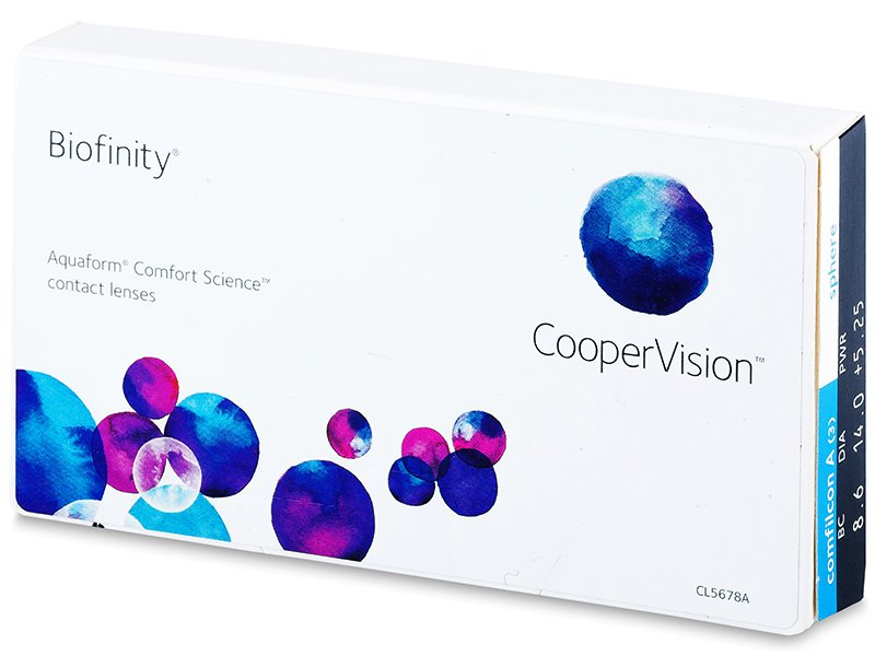 Mesečne kontaktne leče - Biofinity (3leče)