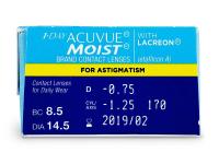 1 Day Acuvue Moist for Astigmatism (30leč) - Predogled lastnosti