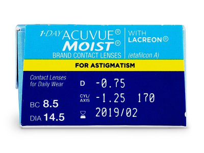 Predogled lastnosti - 1 Day Acuvue Moist for Astigmatism (30leč)